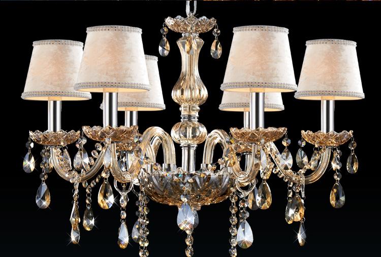 【奥朵】欧式吊灯复古奢华水晶灯客厅灯具餐厅灯卧室