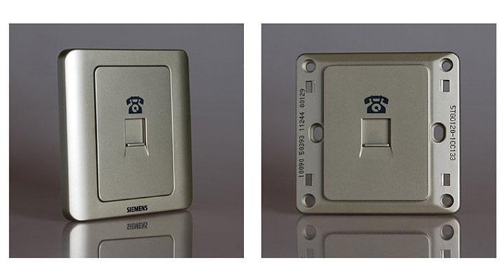 西门子(siemens)5tg01201远景电话插座(金棕色)